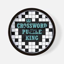 Crossword King Wall Clock