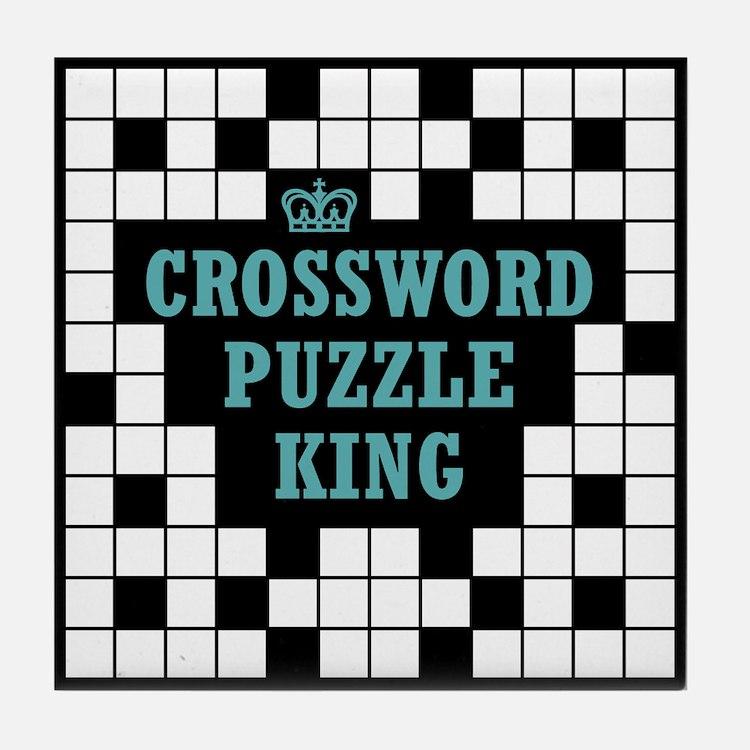 Crossword King Tile Coaster