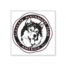 "Transparent AMCA Logo with  Square Sticker 3"" x 3"""