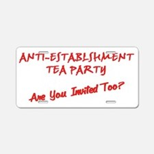 ANTI-ESTABLISHMENT Tea Part Aluminum License Plate