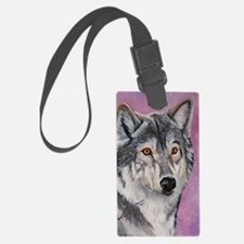 Purple Wolf Luggage Tag