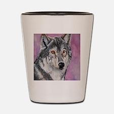 Purple Wolf Shot Glass