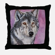 Purple Wolf Throw Pillow