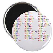 fullcolorstatesacceptanceusedarkapparel Magnet