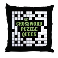 Crossword Queen Throw Pillow