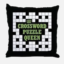 Crossword Queen Throw Pillow