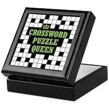 Crossword Queen Keepsake Box