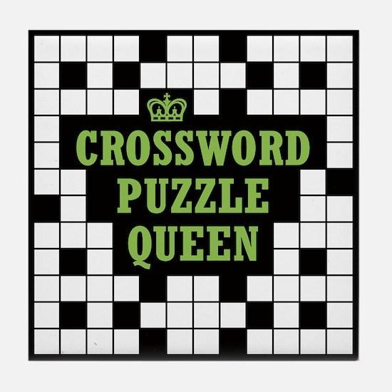 Crossword Queen Tile Coaster
