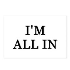 Im All In Postcards (Package of 8)