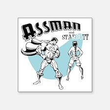 """assman2-LTT Square Sticker 3"""" x 3"""""""