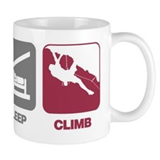 EatSleep_ClimbGuy Small Mugs