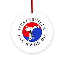 WTKD 2-D Logo Round Ornament