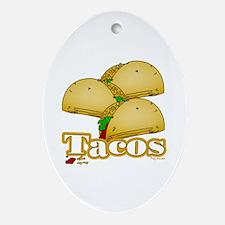 Taco Oval Ornament