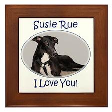 Susie Rue 2 tee Framed Tile