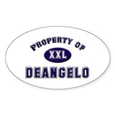 Property of deangelo Oval Decal