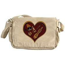 heart patch for cafe press shadow co Messenger Bag