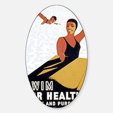 Swim Sticker (Oval)