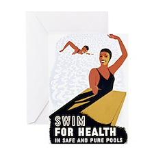 Swim Greeting Card