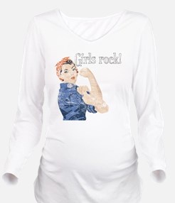 girls rock Long Sleeve Maternity T-Shirt