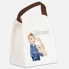 girls rock Canvas Lunch Bag