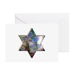 Star of David Passover Cards (6 in pack)