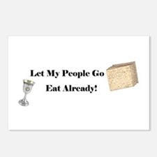 Let My People Go Eat Postcards (Package of 8)