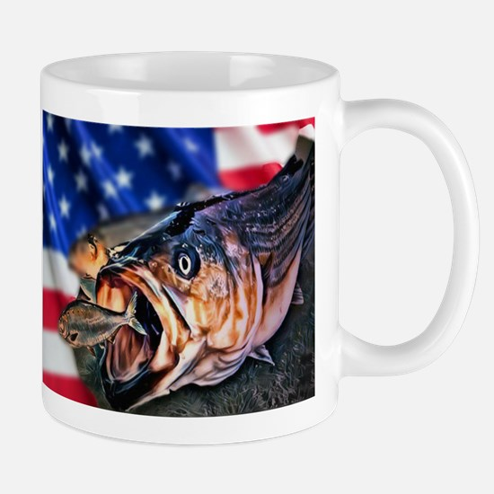 American Flag striper Mugs