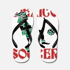 Mexico Soccer Flip Flops