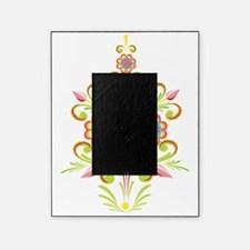 Formal Tole Flowers Picture Frame