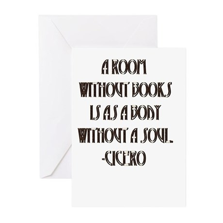 Without Books Greeting Cards (Pk of 10)
