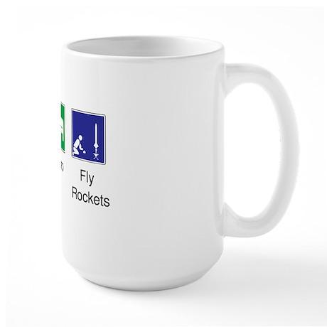 eat_sleep_fly_rockets_10x10 Large Mug