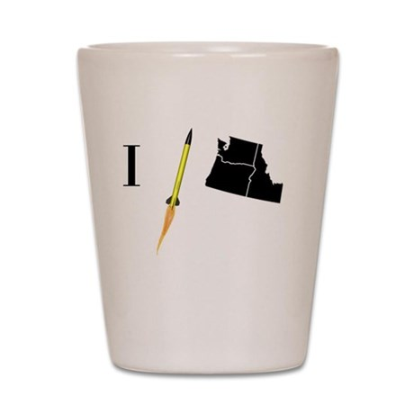 I_fly_NW_10x10 Shot Glass
