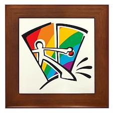 Rainbow Closet Framed Tile
