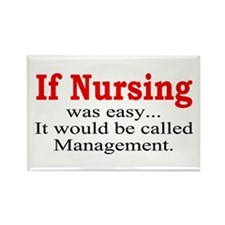 If Nursing was easy Rectangle Magnet (100 pack)