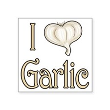 "Iheartgarlic Square Sticker 3"" x 3"""