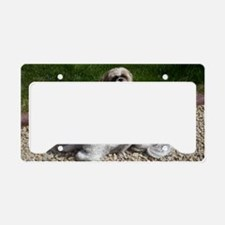 Puppies_outside License Plate Holder