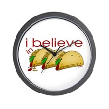 I believe in Tacos Wall Clock