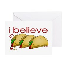 I believe in Tacos Greeting Cards (Pk of 10)