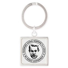 june11_global_hoax_gore Square Keychain