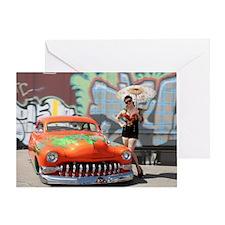 orangewithflamesgraffti1 Greeting Card