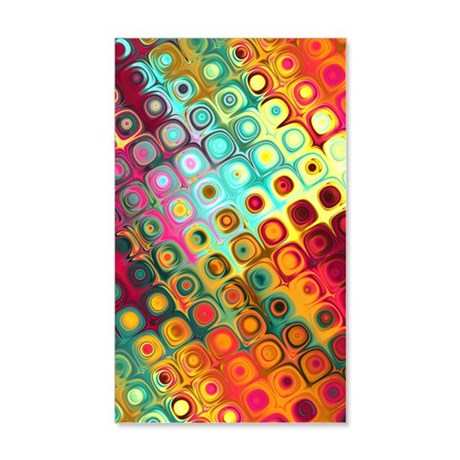 441 Techno Dots 35x21 Wall Decal