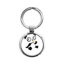 pandaHomeworkA Round Keychain