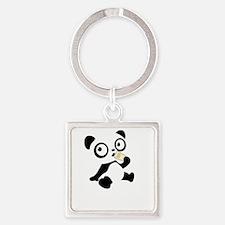 pandaHomeworkA Square Keychain