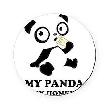pandaHomeworkB Cork Coaster