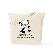 pandaHomeworkB Tote Bag