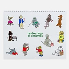 Twelve Dogs Of Christmas Wall Calendar