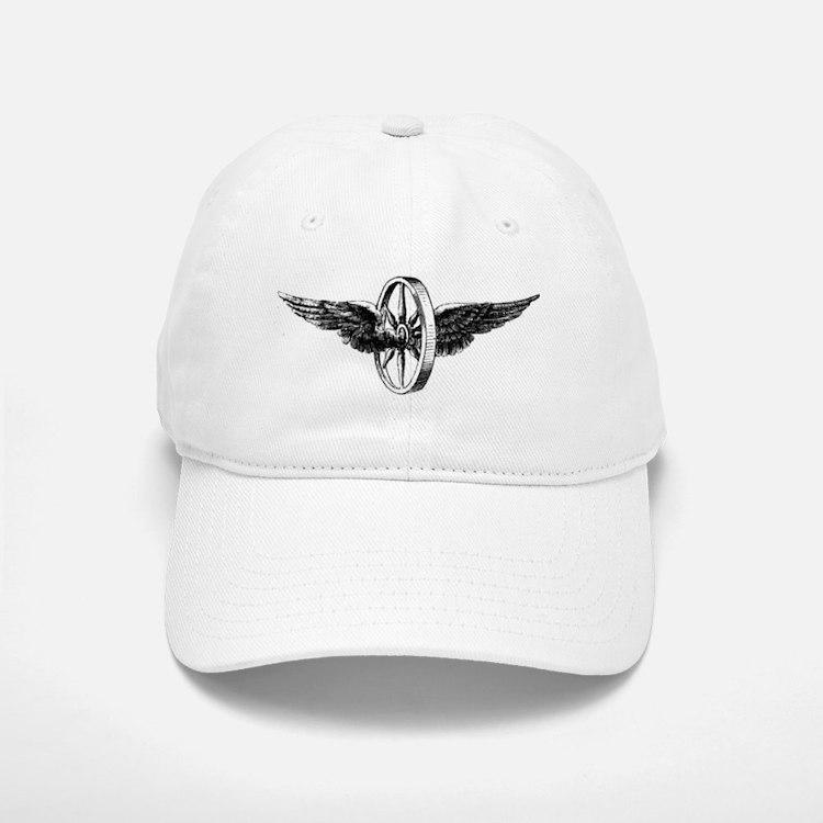 winged wheel - Black Baseball Baseball Cap
