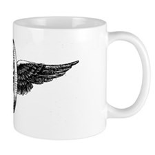 winged wheel - Black Mug