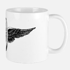 winged wheel - Black Mug