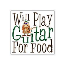 "WP Guitar Square Sticker 3"" x 3"""
